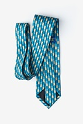 Christmas Tree Abstract Navy Blue Tie Photo (1)