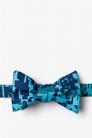 Digital Camo Navy Blue Self-Tie Bow Tie
