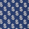 Navy Blue Microfiber Dollar Signs Skinny Tie