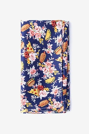 _Fast Food Floral Pocket Square_