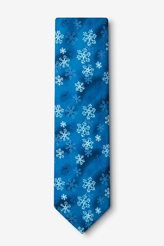 First Snow Navy Blue Tie