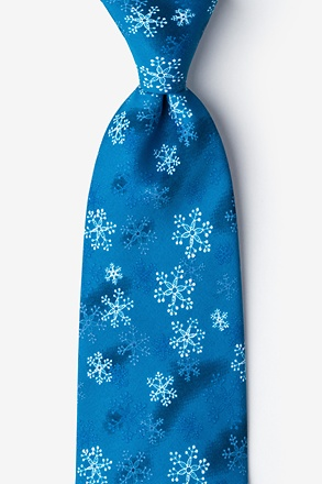 _First Snow Navy Blue Tie_