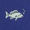 Navy Blue Microfiber Fish Extra Long Tie