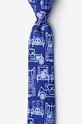 Navy Blue Microfiber Ford Model T Skinny Tie