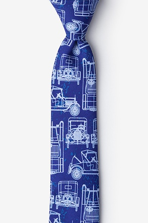 _Ford Model T Navy Blue Skinny Tie_