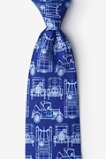 Navy Blue Microfiber Ford Model T Tie