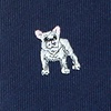 Navy Blue Microfiber French Bulldog Skinny Tie