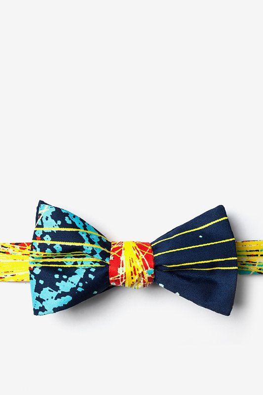Higgs Boson Navy Blue Self-Tie Bow Tie