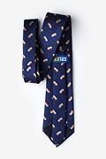 Hot Dogs Navy Blue Extra Long Tie Photo (1)