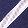 Navy Blue Microfiber Jefferson Stripe Skinny Tie