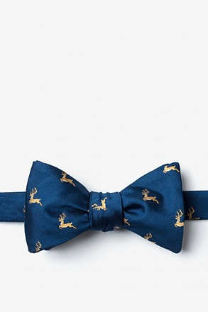 Jumping Reindeer Butterfly Bow Tie