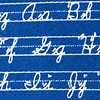 Navy Blue Microfiber Learning Cursive Extra Long Tie