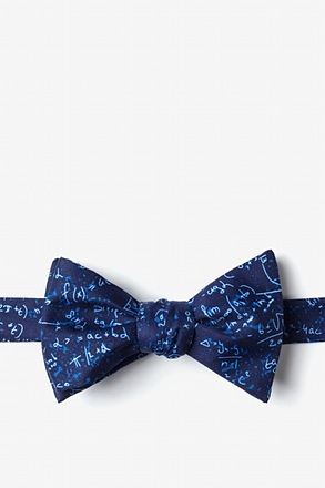 Math Equations Navy Blue Self-Tie Bow Tie