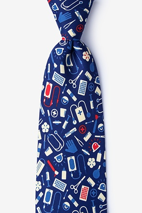 Medical Supplies Navy Blue Tie