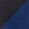Navy Blue Microfiber Navy & Black Stripe Extra Long Tie