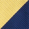 Navy Blue Microfiber Navy & Gold Stripe Butterfly Bow Tie