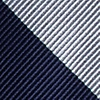 Navy Blue Microfiber Navy & Off White Stripe Self-Tie Bow Tie