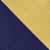 Navy Blue Microfiber Navy And Gold Stripe Extra Long Tie
