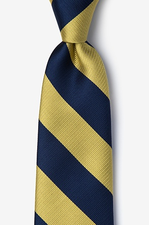 Navy And Gold Stripe Tie