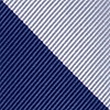 Navy Blue Microfiber Navy And Silver Stripe Extra Long Tie