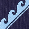 Navy Blue Microfiber Ocean Waves Extra Long Tie