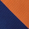 Navy Blue Microfiber Orange & Navy Stripe