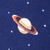 Navy Blue Microfiber Outer Space Extra Long Tie