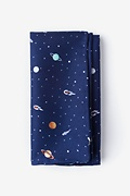 Navy Blue Microfiber Outer Space Pocket Square