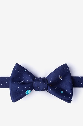 _Outer Space Navy Blue Self-Tie Bow Tie_
