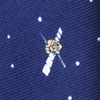 Navy Blue Microfiber Outer Space Skinny Tie