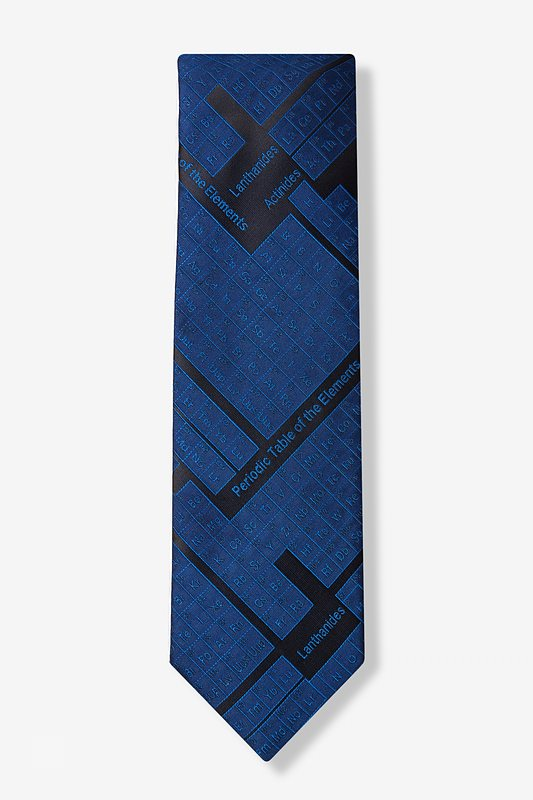 Periodic Table Navy Blue Extra Long Tie Photo (1)
