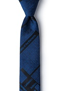 Navy Blue Microfiber Periodic Table Skinny Tie