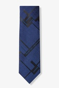 Navy Blue Microfiber Periodic Table Tie