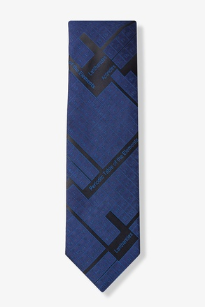 Periodic Table Navy Blue Tie