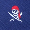 Navy Blue Microfiber Pirate Skull and Swords Tie