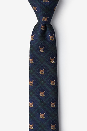 Plaid Fox Skinny Tie