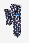 Santa Faces Navy Blue Tie Photo (1)