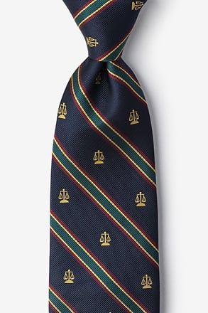 _Scales of Justice Blue Navy Blue Tie_