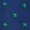 Navy Blue Microfiber Shamrocks Extra Long Tie