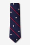 Ship Stripe Extra Long Tie
