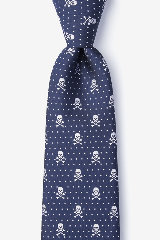 Skull & Polka Dots Extra Long Tie Photo (0)