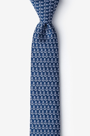 Small Anchors Skinny Tie
