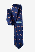 Sneaky Foxes Navy Blue Tie Photo (1)
