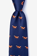Sneaky Foxes Navy Blue Tie Photo (0)