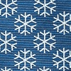 Navy Blue Microfiber Snowflakes Extra Long Tie