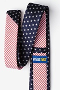 Stars & Stripes Navy Blue Skinny Tie Photo (1)