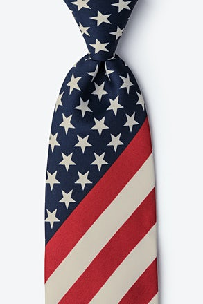 _Stars and Stripes Navy Blue Tie_