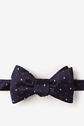 Navy Blue Microfiber Stars Self-Tie Bow Tie