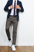 Stars Navy Blue Skinny Tie Photo (2)