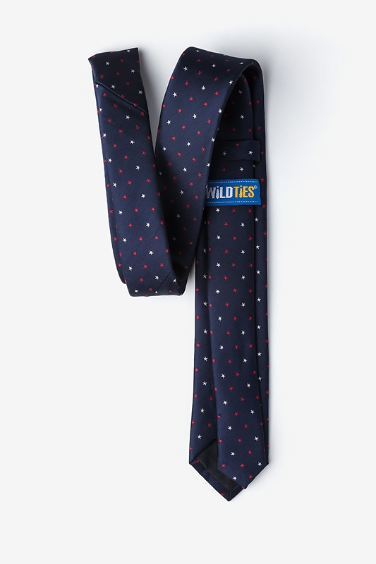 Stars Navy Blue Skinny Tie Photo (1)